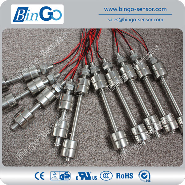 Level float switch for hot water tank, controller water level float switch