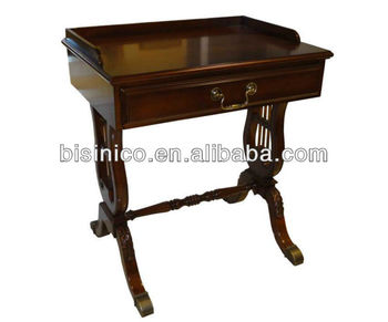 Queen Anne Series Living Room Furniture Occasional End Side Table With  Drawer, English New