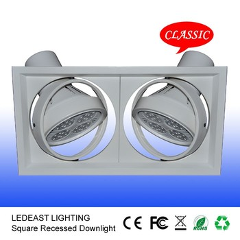 30w 35w Ar111 Rectangular Led Downlight Square Grille Lamp