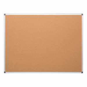 Aluminum Framed Cork Bulletin Board, Wall Mountable Push Pin Notice Board
