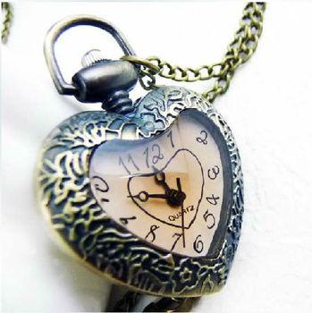Vintage love heart pocket watch pendant necklace buy heart watch vintage love heart pocket watch pendant necklace aloadofball Gallery