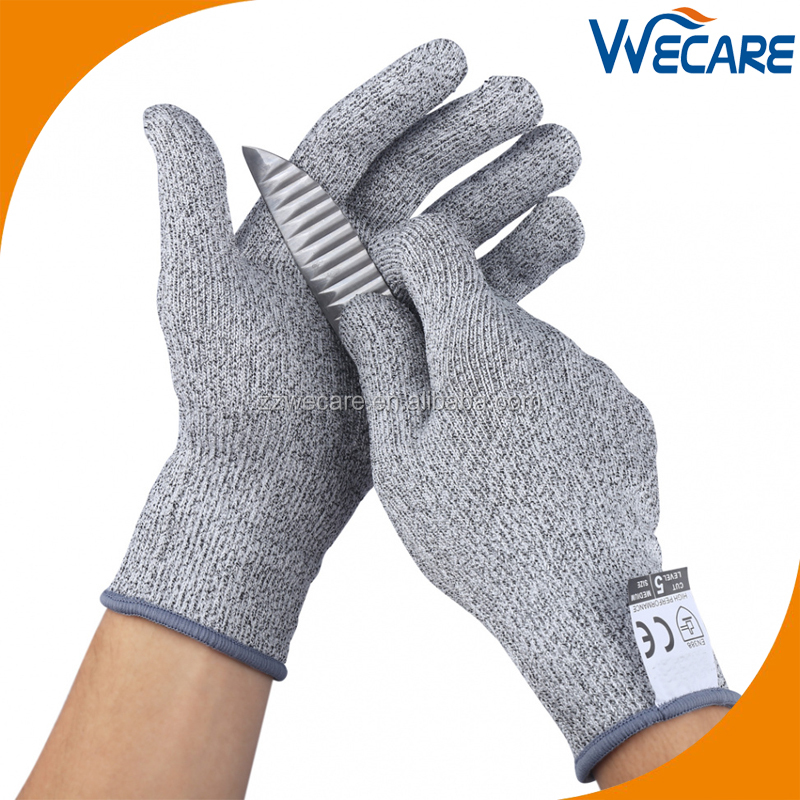 13Gauge HPPE Knitted Knife Proof Cut Resistant Safery Gloves