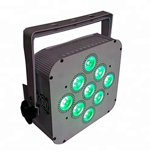 Infrared Remote (IR) Control 9x18W RGBWA+UV 6IN1 Wireless Battery Powered led Par can light