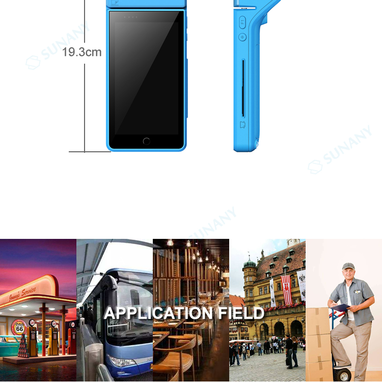 Android mini pos device mobile all in one pos terminal with printer Handheld mobile payment point of sale hardware