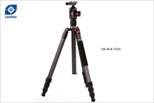 Leofoto LT-324 hot selling /OEM professional carbon fiber tripod with monopod and nice package