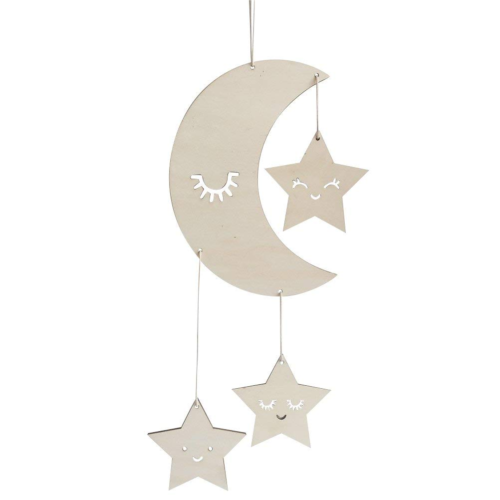 Get Quotations Bestoyard Nursery Ceiling Mobile Moon Stars Hanging Decorations For Baby Shower Room