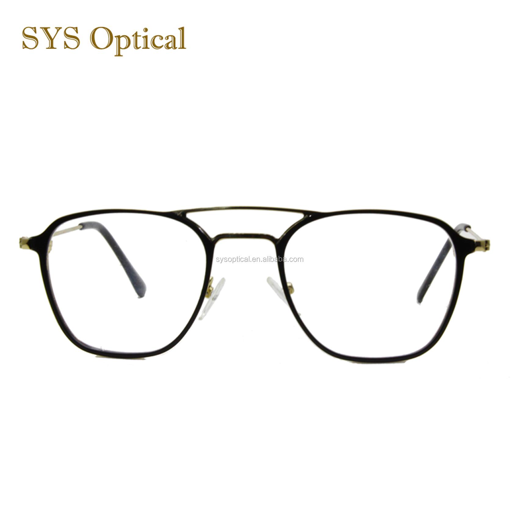 3f1dea9eff China wholesale optical eyeglasses frame OEM double beam new model metal optical  frame
