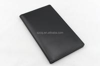 black pu mounted paper cardboard file folder with multiple pockets