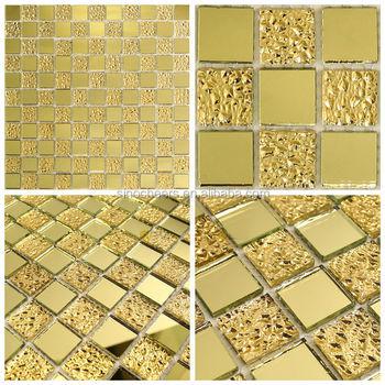 Gold Spiegel Glas-mosaik-fliesen Mosaik Pool Fliesen - Buy Product ...