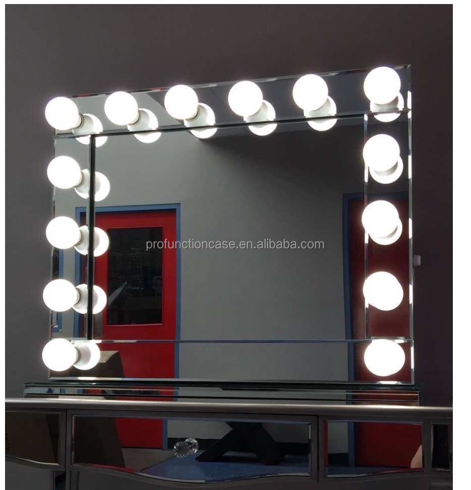Vanity Mirror With Lights Dressing Room : Australia Popular Hollywood Makeup Mirror With Led Lights Mirror Finish Luxury Fancy Dressing ...