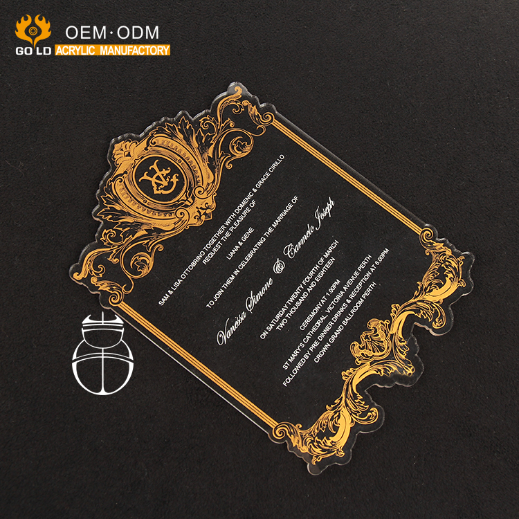 Luxury Acrylic Musical Wedding Invitationacrylic Laser Cutting Invitation Cards