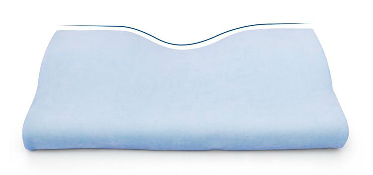 Ergonomic Folded Patented  Anti-snore Washable Portable Cervical Sleeping Memory Foam Pillow