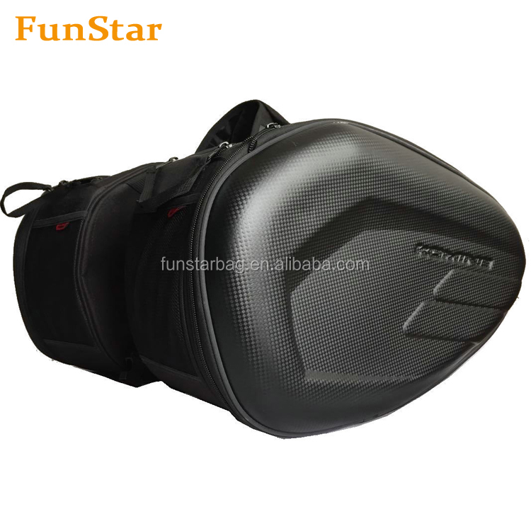 Men Black Dual Sport Motorcycle Saddlebag Side Luggage Bag Waterproof PU Leather MotorBikes Adventure Tool Tail Bag for Harley