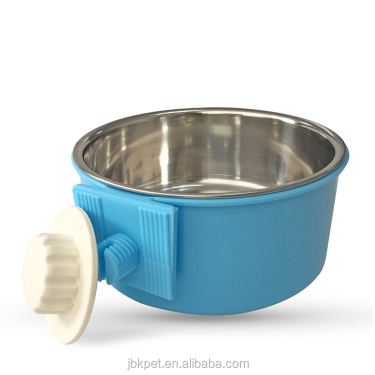 JBK Durable Dog Bowl Pet Feeding Tool Hanging Stainless Steel Food Container Drink Water Bowl Dish Accessory for Pet