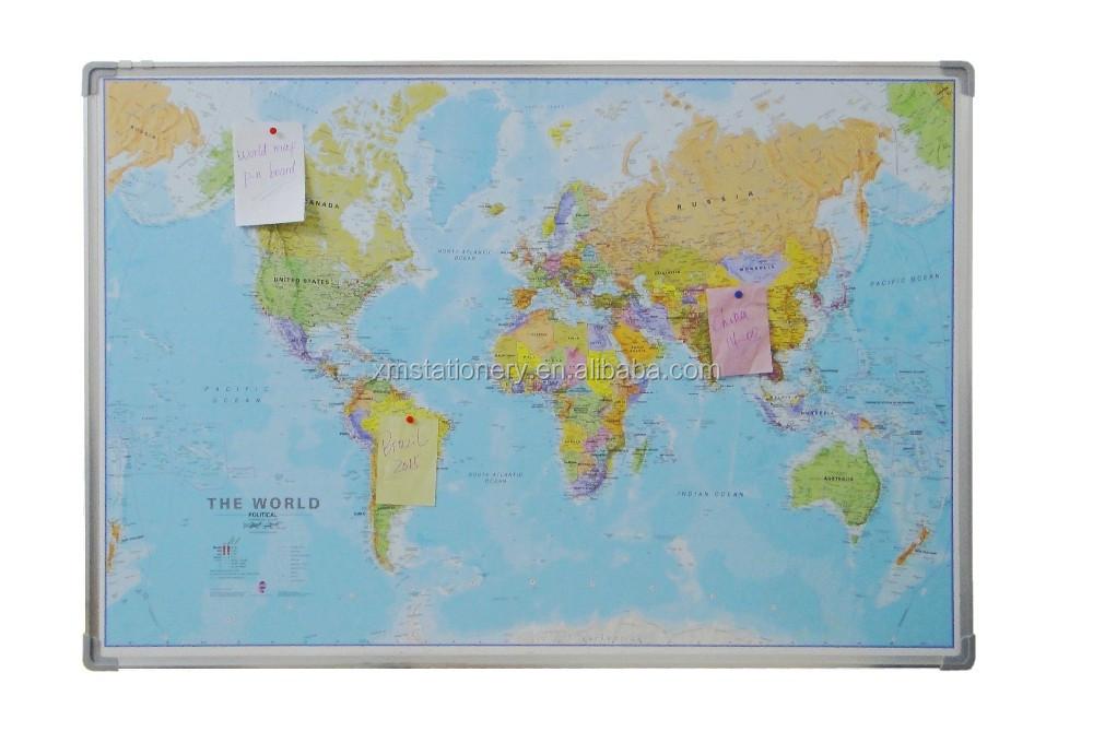 World map fabric display board world map pin board buy world map world map fabric display board world map pin board gumiabroncs Choice Image