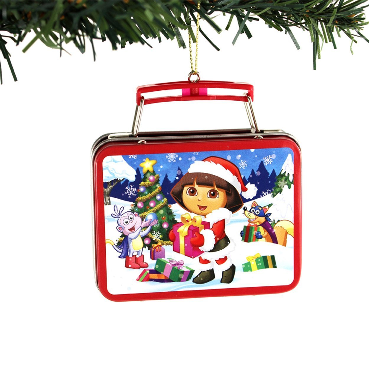 Dora The Explorer Kurt Adler Mini Tin Ornament Gift Boxed Boots Swiper