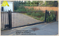 steel Gate-002 cassical best-selling durable art wrought iron gate arch