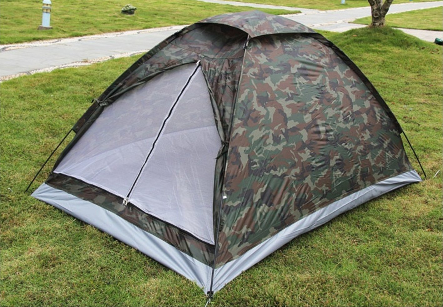 LifeVC Ultralight Camping Tent for 2 Person With Carry Bag,Portable Outdoor Hiking Backpacking Tent Lightweight(Color:Camouflage)