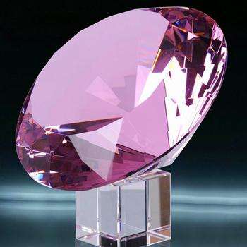 Elegant Crystal Glass Pink Diamond Wedding Dress Decorative