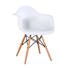 Dining Plastic Chair Plasticplastic Plastic Dining Chair Modern Wooden Legs Dining Plastic Chair