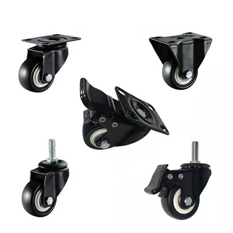 Transparent swivel PU caster, chrome plated medical caster, Medium duty TPR wheel for OEM order