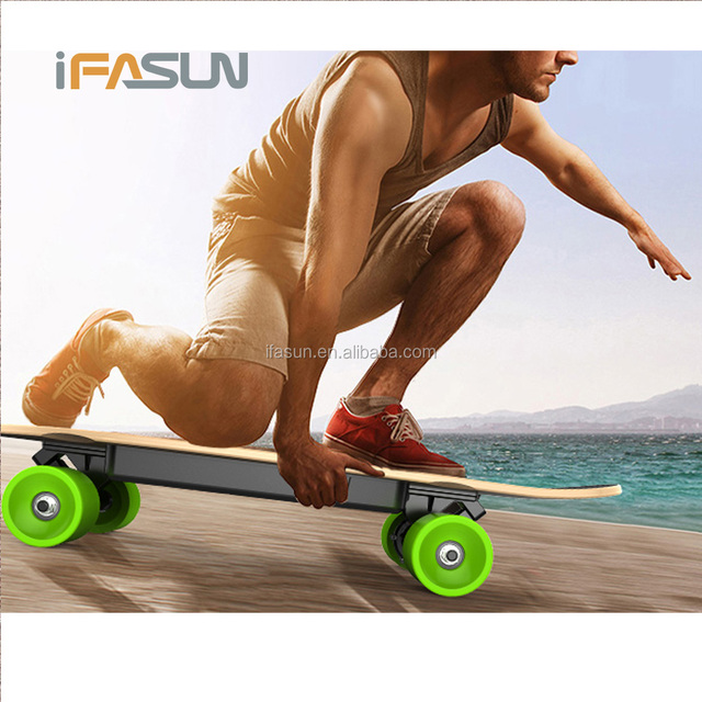 2017 New Fish Board Electric Skateboard Hub Motor In wheel Motor Remote Control Kids Bluetooth Fat Tire Electric Scooter