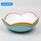 Unique lace design fruit salad plastic mixing candy bowl with low price