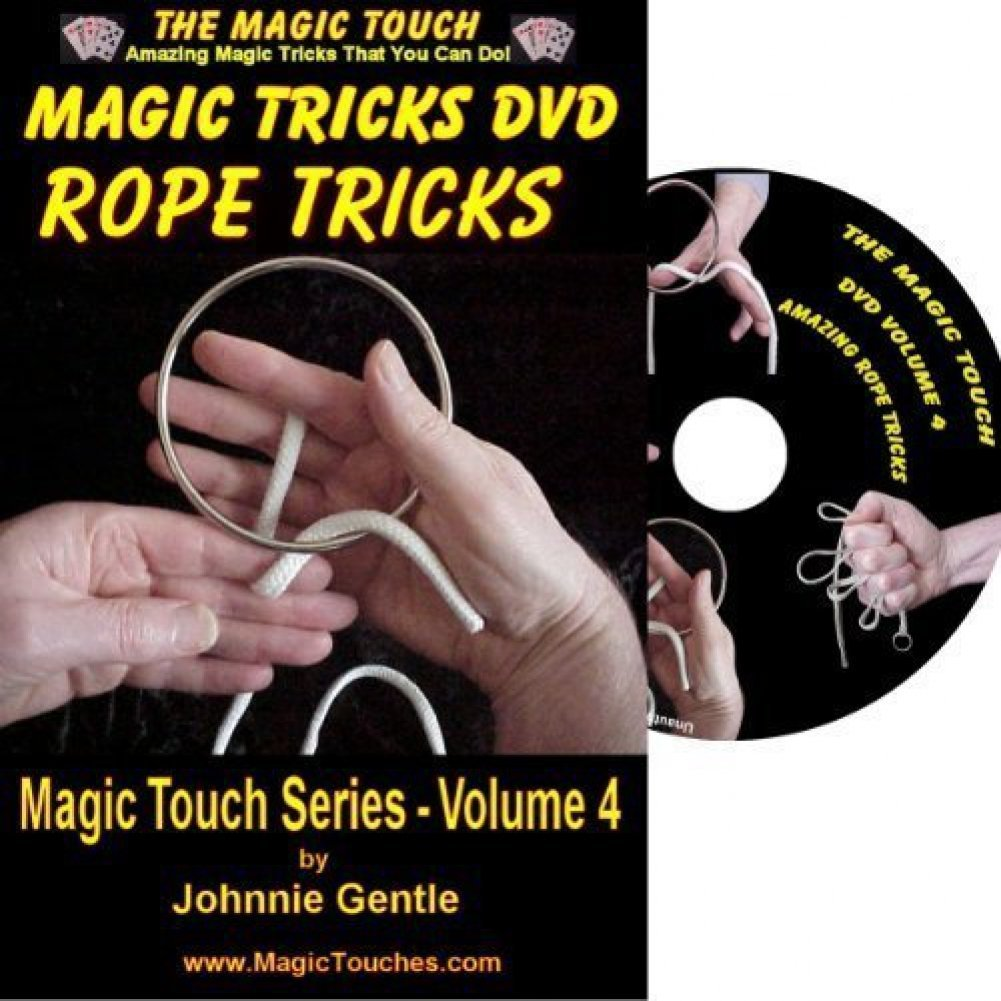 MAGIC TRICKS DVD - An Amazing Magic Tricks DVD Collection of Classic Rope Tricks and Stunning Magic Tricks with Rings and Strings, All Fully Demonstrated and Explained in Easy to Follow, Step-by-Step Videos. A Must for Both Experienced Magician and Magical Beginner to Baffle Friends and Blow the