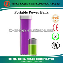 fashional best selling lipstick for iphone power bank 2600mah portable charger 2600mah power banks for cellphones