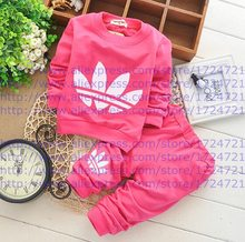 2015 Spring Fall Baby Clothing Sets Children Boys Girls Kids Brand Sport Suits Tracksuits Cotton Long Sleeve Shirt + Pants 2pcs