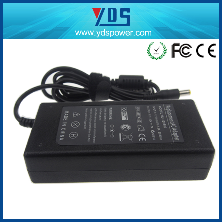 high reliability switching mode power supply, 12V 7A 84W ac to dc power adapter