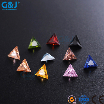 guojie brand Hot Saling triangle Shape Factory For Wedding Dress Crystal Zirconia