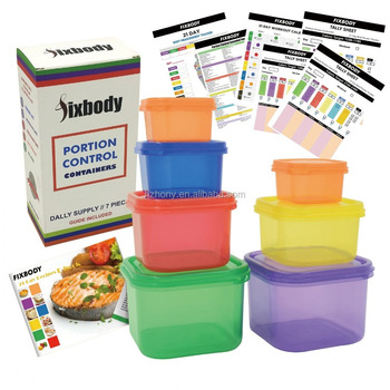 Original Factory fixbody 7 Pieces 21 Day Portion Control Containers