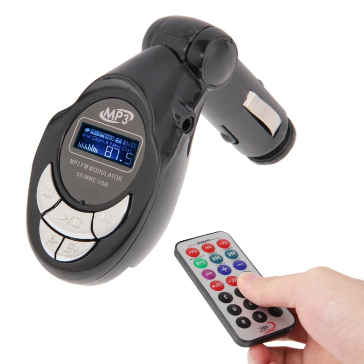 Dropshipping 4 in 1 USB Wireless Display LCD Modulatore FM Transmitter Car MP3