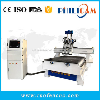 Philicam Homemade cnc router china price / wooden door design cnc router machine 1325