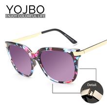 90fe0512a7100 Superdimensionada Óculos De Sol Das Mulheres Rodada 2016 Senhoras Da Forma  do Vintage De Luxo Da