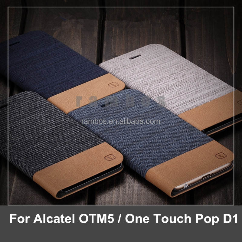 Book Style wallet Leather Case Phone Cover Stand Card Holder for Alcatel OTM5 for Alcatel One Touch Pop D1 4018A/M/X/D/E