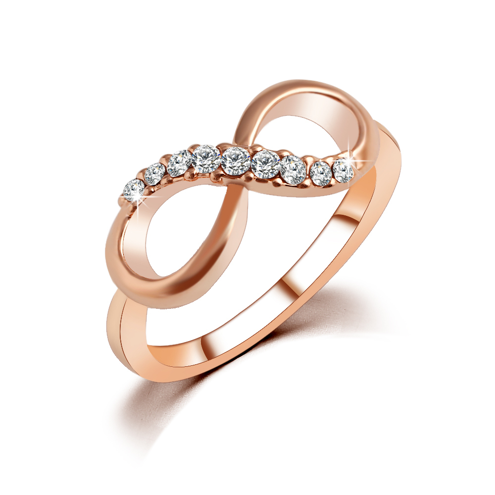 New Hot Best Quality Fashion Alloy Rose Gold Plated Fine
