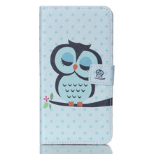 Custom Cute Bird Case For iPhone 5 PU Leather Case / Folio Wallet Case For iPhone 5 Custom Leather Case / For iPhone 5 Card Case