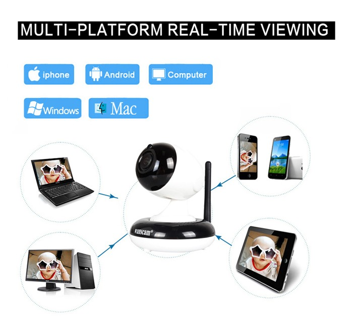 Wanscam HW0051 3 optical zoom HD Onvif Wifi Wireless Free APP 1.3 megapixel Wifi P2P indoor PTZ 960P ip camera