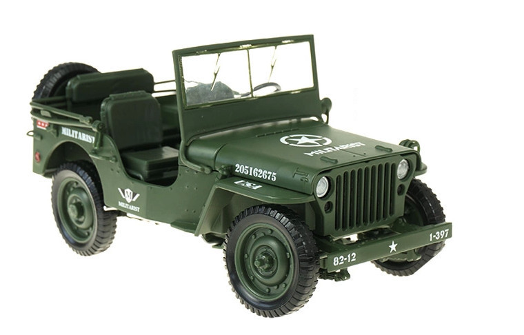High Quality KAIDIWEI Militarist Military Tactical Jeep Vehicle Car 1 18 Alloy Toys Gifts Models