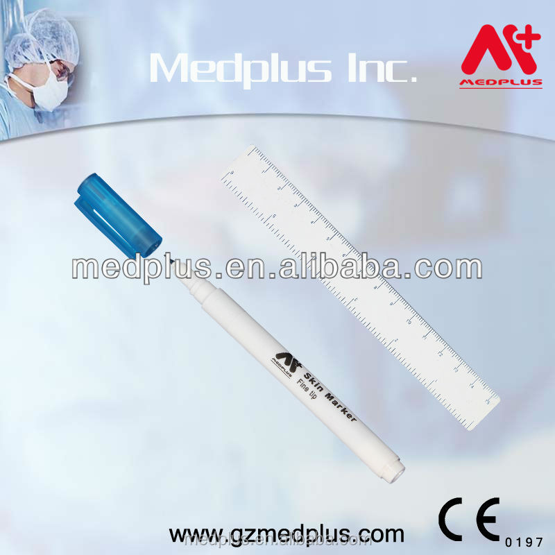 Hospital Fine Type Surgical Skin Marker Pen With Ruler