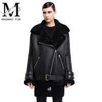 Cheap Clothing From China Genuine Sheep Leather Fur Jacket Model for Women