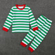 SEV.WEN baby sleepwear Christmas Set Red children's cotton pyjamas Newborn Long sleeve T-shirt Striped Pants Outfits Costume