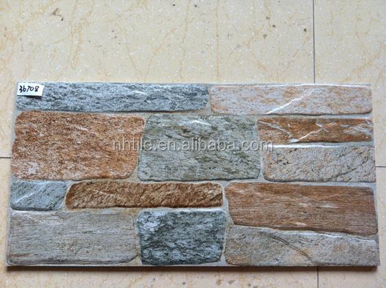 300 X 600 Mm Stone Wall Tile Exterior Ceramic Looks Like