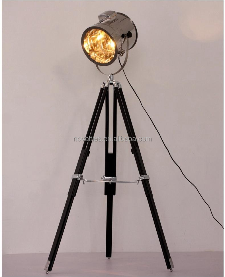 Retro Industrial Loft Tripod Floor Standing Lamp,Nautical ...