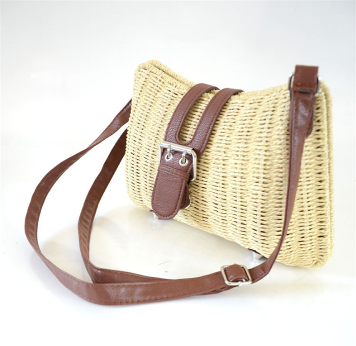 Crossbody Straw Bag, Women Straw Handbag Shoulder Bag for Beach Travel and Everyday Use