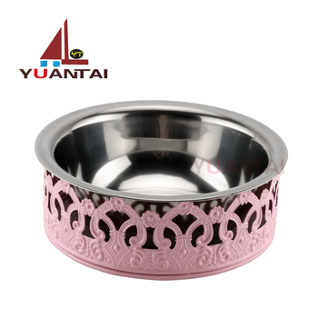Factory sells new style color stainless steel dog bowl and cat bowl, stainless steel pet bowl