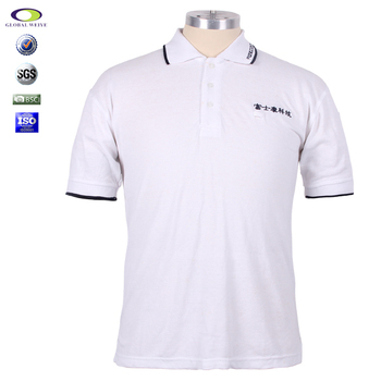 Custom Company Uniform Polo Work T Shirt With Embroidery