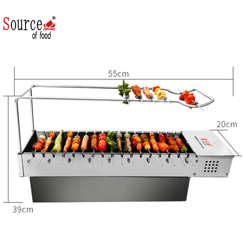 Rotisserie kip grill restaurant keuken barbeque apparatuur in china